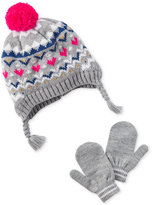 Carter's 2-Pc. Fair Isle Hat and Mittens Set, Baby Girls (0-24 months)