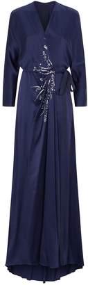 Jenny Packham Beaded Wrap Gown