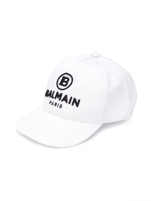 Balmain Kids Embroidered Logo Cap