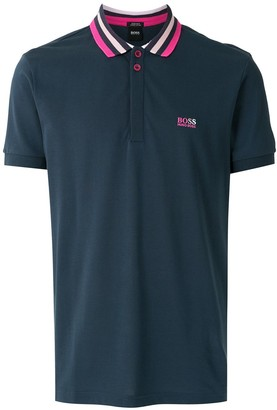 HUGO BOSS Logo-Embroidered Short-Sleeve Polo Shirt