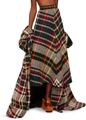 Rosie Assoulin Tartan A-Line Midi Skirt