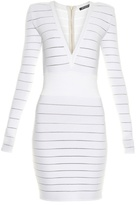 Balmain Deep V-neck knit dress
