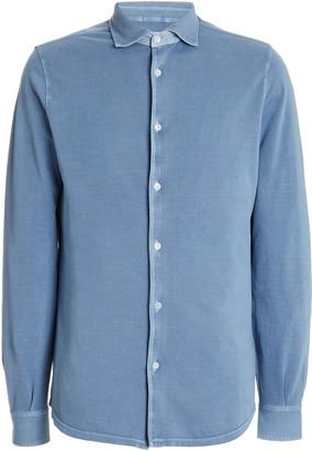 Fedeli Steve Cotton-Pique Button-Down Shirt