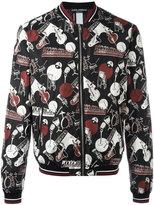 Dolce & Gabbana musical instrument print bomber jacket - men - Polyimide/Polyamide/Polyester - 48