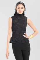 Josie Natori Novelty Lace Short Sleeve Top