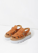 MM6 MAISON MARGIELA Leather Platform Sandal