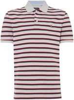 Howick Westport Stripe Short Sleeve Pique Polo