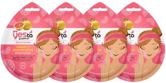 Yes To Grapefruit Vitamin C Boosting Mud Mask 4 Pack