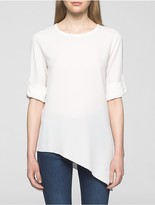 Calvin Klein Asymmetrical Roll-Sleeve Blouse