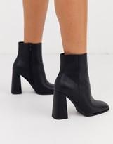 Asos Design DESIGN Ending heeled ankle boots in black