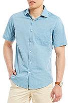 Hart Schaffner Marx Dot Dobby Short-Sleeve Shirt