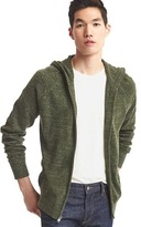 Gap Heathered zip sweater hoodie