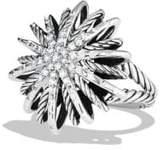 David Yurman Starburst Medium Ring with Diamonds