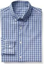 Gap Stretch Poplin mini gingham standard fit shirt