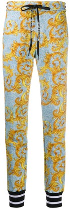 Versace Baroque-Print Cotton Track Trousers