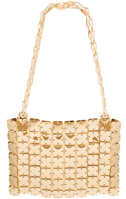 Paco Rabanne Iconic Square 1969 Bag in Light Gold | FWRD