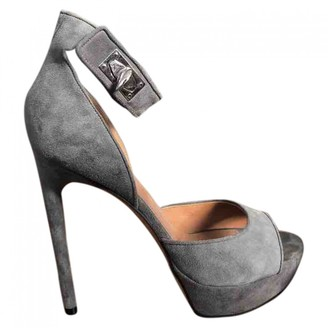 Givenchy Shark Grey Suede Sandals