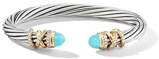 David Yurman Helena Bracelet with Turquoise & Diamonds