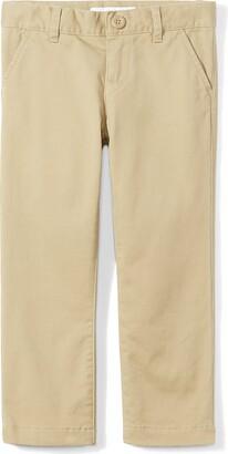 Amazon Essentials Big Girls' Flat Front Uniform Chino Pant