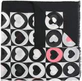 Twin-Set heart colour-block scarf
