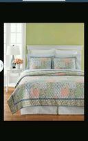 Martha Stewart 1 Quilted Standard Pillow Sham Full Queen Sunshine Patchwork