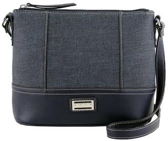 Cellini CSQ240 Irene Zip Top Blue Crossbody Bag