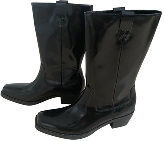 Calvin Klein Collection Black Leather Boots