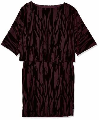 Tahari by Arthur S. Levine Women's Blouson Velvet Burnout Short Dress