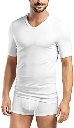 Hanro Men's Liam V-Shirt 1/2 Arm T (White 0101), X-Large