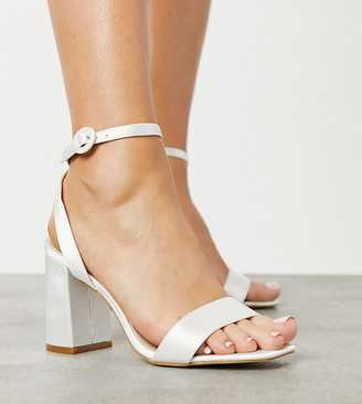 Be Mine Wide Fit Be Mine Bridal Wide Fit Wink heeled sandals in ivory satin