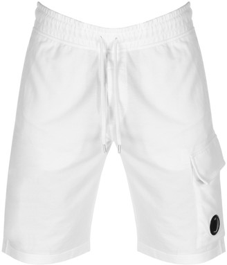 C.P. Company Logo Sweat Shorts White