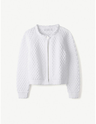 The Little White Company Knitted cotton cardigan 1-6 years