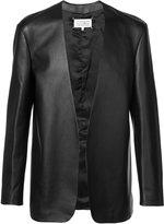 Maison Margiela collarless leather jacket