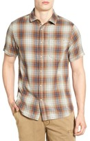 Jeremiah Men's Badlands Regular Fit Reversible Plaid Sport Shirt