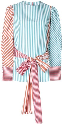 Silvia Tcherassi Belted Striped Blouse