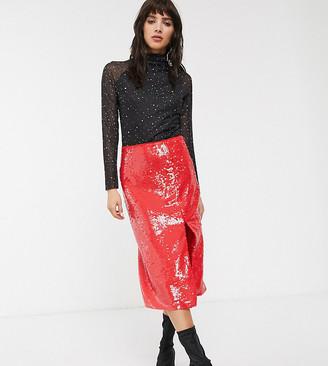 Glamorous midi pencil skirt in premium sequin