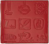 Loewe Red Signature Bifold Wallet
