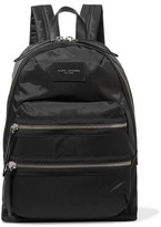 Marc Jacobs Biker Leather-trimmed Shell Backpack - Black
