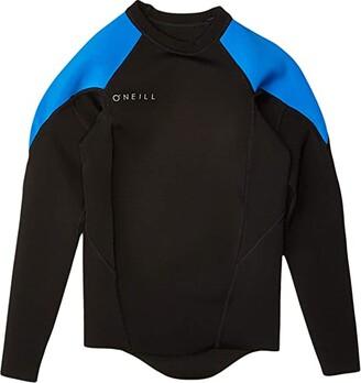 O'Neill Kids Reactor-2 1.5/1.0 mm Long Sleeve Top (Big Kids) (Black/Ocean/Ocean) Boy's Wetsuits One Piece