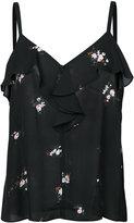 A.L.C. floral print frill top - women - Silk - 2