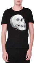 Alexander McQueen Optic Skull-Printed Short-Sleeve T-Shirt, Black