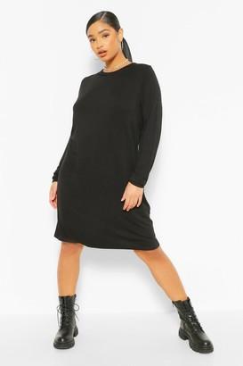 boohoo Plus Jersey Long Sleeve T-Shirt Dress
