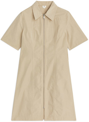 Arket Zip-up Taffeta Dress
