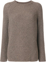 Eleventy ribbed knitted sweater - women - Polyamide/Wool - S