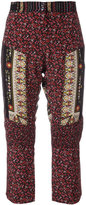 No.21 patchwork cropped trousers - women - Silk/Acetate - 42