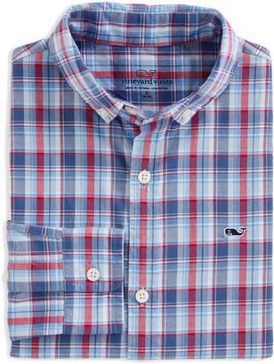 Vineyard Vines Williams Whale Plaid Button-Down Shirt