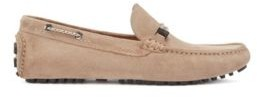 HUGO BOSS Driver moccasins in suede with cord details