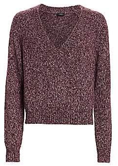 Theory Women's Marled V-Neck Baby Alpaca-Blend Sweater