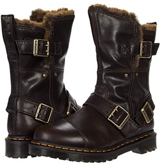 Dr. Martens Kristy Mid (Bitter Chocolate Luxor) Women's Shoes
