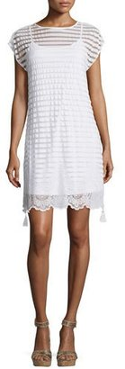 Lilly Pulitzer Andria Short-Sleeve Lace Tunic Dress